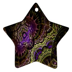 Abstract Fractal Art Design Star Ornament (two Sides)