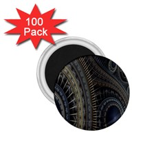 Fractal Spikes Gears Abstract 1 75  Magnets (100 Pack)  by Celenk