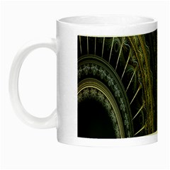 Fractal Spikes Gears Abstract Night Luminous Mugs by Celenk
