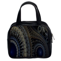 Fractal Spikes Gears Abstract Classic Handbags (2 Sides) by Celenk