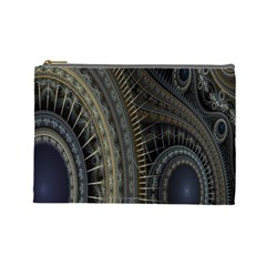 Fractal Spikes Gears Abstract Cosmetic Bag (large)