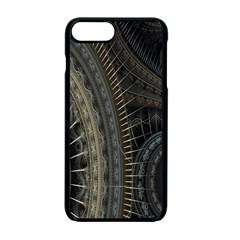 Fractal Spikes Gears Abstract Apple Iphone 7 Plus Seamless Case (black)