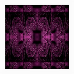 Fractal Magenta Pattern Geometry Medium Glasses Cloth (2 Side)