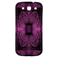 Fractal Magenta Pattern Geometry Samsung Galaxy S3 S Iii Classic Hardshell Back Case by Celenk