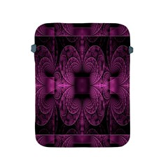 Fractal Magenta Pattern Geometry Apple Ipad 2/3/4 Protective Soft Cases by Celenk