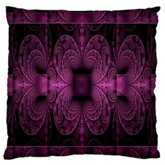 Fractal Magenta Pattern Geometry Standard Flano Cushion Case (one Side) by Celenk