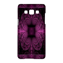 Fractal Magenta Pattern Geometry Samsung Galaxy A5 Hardshell Case  by Celenk