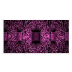 Fractal Magenta Pattern Geometry Satin Shawl by Celenk
