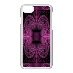 Fractal Magenta Pattern Geometry Apple Iphone 7 Seamless Case (white) by Celenk