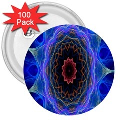Cosmic Flower Kaleidoscope Art 3  Buttons (100 Pack)  by Celenk