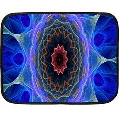 Cosmic Flower Kaleidoscope Art Double Sided Fleece Blanket (mini)  by Celenk