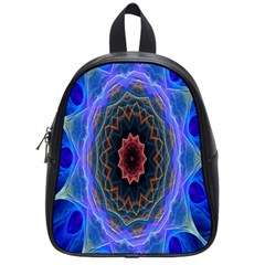 Cosmic Flower Kaleidoscope Art School Bag (small) by Celenk