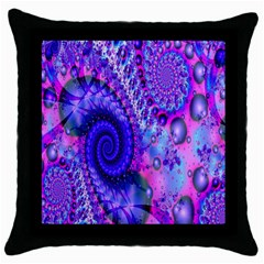 Fractal Fantasy Creative Futuristic Throw Pillow Case (black) by Celenk