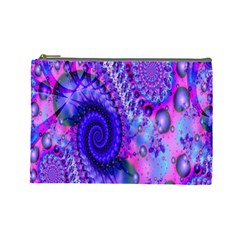 Fractal Fantasy Creative Futuristic Cosmetic Bag (large)