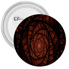 Fractal Red Brown Glass Fantasy 3  Buttons by Celenk