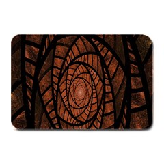 Fractal Red Brown Glass Fantasy Plate Mats by Celenk