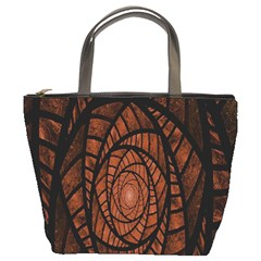 Fractal Red Brown Glass Fantasy Bucket Bags