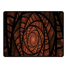 Fractal Red Brown Glass Fantasy Fleece Blanket (small) by Celenk