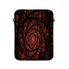 Fractal Red Brown Glass Fantasy Apple Ipad 2/3/4 Protective Soft Cases