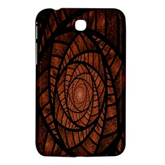 Fractal Red Brown Glass Fantasy Samsung Galaxy Tab 3 (7 ) P3200 Hardshell Case  by Celenk