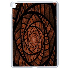 Fractal Red Brown Glass Fantasy Apple Ipad Pro 9 7   White Seamless Case by Celenk