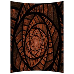 Fractal Red Brown Glass Fantasy Back Support Cushion by Celenk