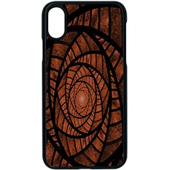 Fractal Red Brown Glass Fantasy Apple Iphone X Seamless Case (black) by Celenk