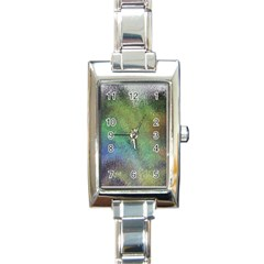 Frosted Glass Background Psychedelic Rectangle Italian Charm Watch by Celenk