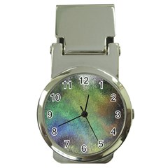 Frosted Glass Background Psychedelic Money Clip Watches by Celenk