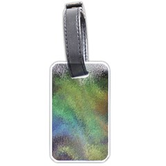Frosted Glass Background Psychedelic Luggage Tags (two Sides) by Celenk