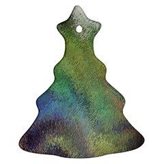 Frosted Glass Background Psychedelic Ornament (christmas Tree)  by Celenk