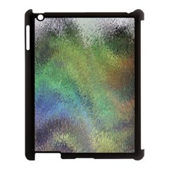 Frosted Glass Background Psychedelic Apple Ipad 3/4 Case (black) by Celenk