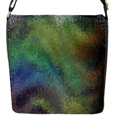 Frosted Glass Background Psychedelic Flap Messenger Bag (s)