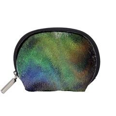 Frosted Glass Background Psychedelic Accessory Pouches (small)  by Celenk