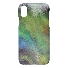 Frosted Glass Background Psychedelic Apple Iphone X Hardshell Case by Celenk