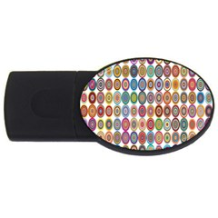 Decorative Ornamental Concentric Usb Flash Drive Oval (2 Gb) by Celenk