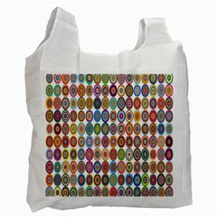 Decorative Ornamental Concentric Recycle Bag (one Side) by Celenk