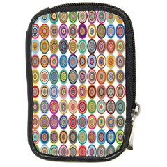 Decorative Ornamental Concentric Compact Camera Cases by Celenk