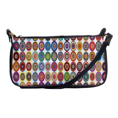 Decorative Ornamental Concentric Shoulder Clutch Bags by Celenk