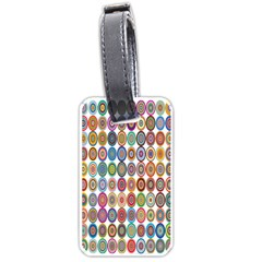 Decorative Ornamental Concentric Luggage Tags (one Side)  by Celenk