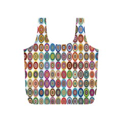 Decorative Ornamental Concentric Full Print Recycle Bags (s)  by Celenk