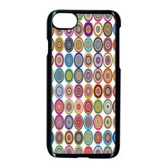Decorative Ornamental Concentric Apple Iphone 7 Seamless Case (black) by Celenk