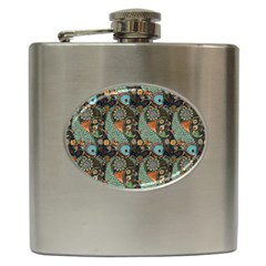 Pattern Background Fish Wallpaper Hip Flask (6 Oz) by Celenk