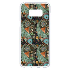 Pattern Background Fish Wallpaper Samsung Galaxy S8 Plus White Seamless Case by Celenk