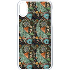 Pattern Background Fish Wallpaper Apple Iphone X Seamless Case (white) by Celenk