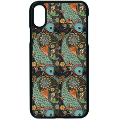 Pattern Background Fish Wallpaper Apple Iphone X Seamless Case (black) by Celenk