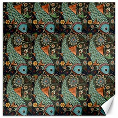 Pattern Background Fish Wallpaper Canvas 20  X 20   by Celenk