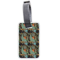Pattern Background Fish Wallpaper Luggage Tags (two Sides)