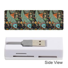 Pattern Background Fish Wallpaper Memory Card Reader (stick)  by Celenk