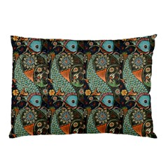 Pattern Background Fish Wallpaper Pillow Case (two Sides)